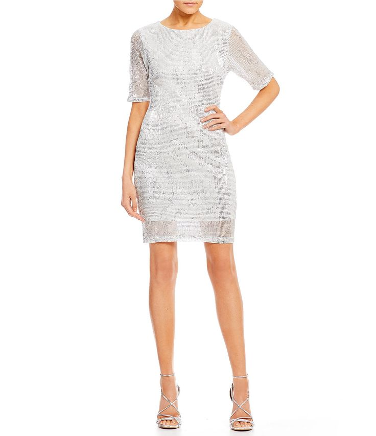 Honey and Rosie Sequin Shift Dress #Dillards