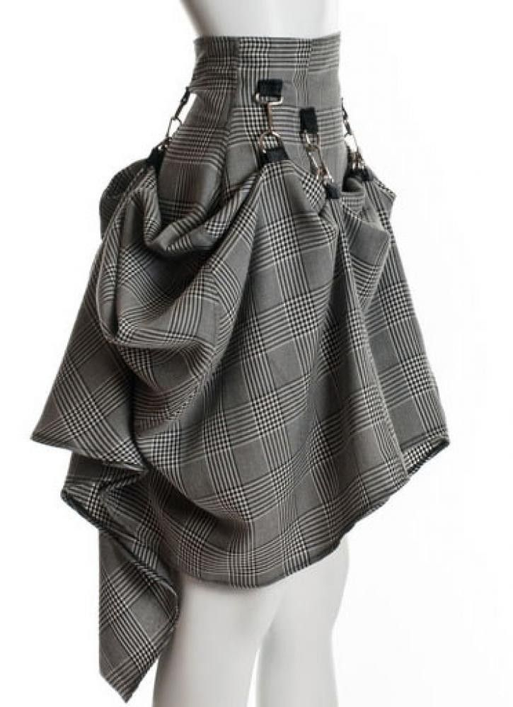 Gray Black Steam Punk Skirt<br/><div class='zoom-vendor-name'>By <a href=http://www.ustrendy.com/PINaRERIS>PINaR ERIS</a></div>