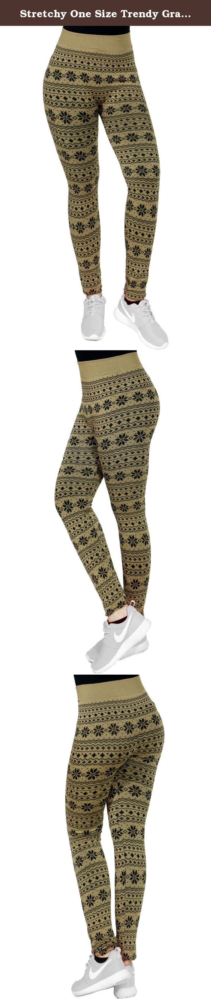 Stretchy One Size Trendy Graphic Print High Waist Fleece Legging Pant For Women (ONE SIZE, SNOW/CAMEL-915). FANDSWAY brand products are made from high quality materials. Our designers are able to create the trendiest up-to-date outerwear by integrating classic and modern fashion trends. We specialize in women, lady, junior, and girl? outerwear for all occasions. Our products are made from various combinations of polyester, viscos, acrylic, rayon, spandex, cotton, PU, nylon, elastin, and...