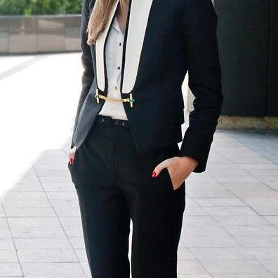 Three piece decent office dress for ladies