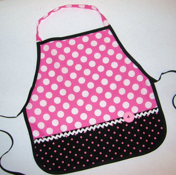 Kid's pink polka dot pretend play apron smock by sweetpeppergrass, $20.00: Pink Polka Dots, 12 Months, Kid S Pink, Apron Smock, Cooking Tools, Dot Pretend, Pretend Play, Play Apron, Art Supplies
