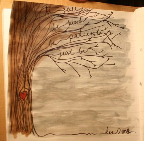 words in the branches...love it!