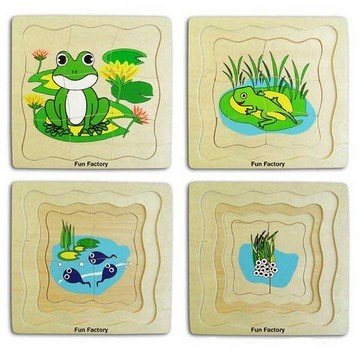 Layered frog puzzle