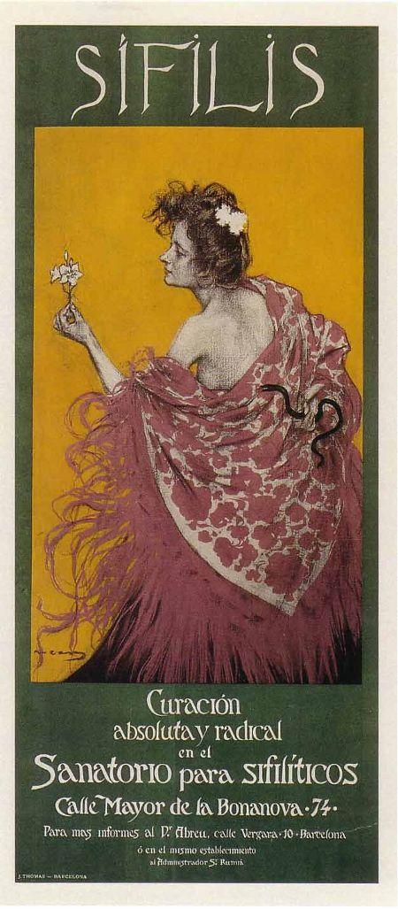 Ramón Casas i Carbó, Syphilis poster, 1900. #art #poster #barcelona