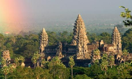 The temple of Angkor Wat near Siam Reap, Cambodia.