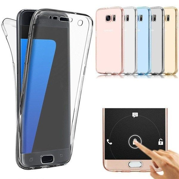 360 Front And Back Protective Tpu Clear Case Cover For Samsung Galaxy S7 Edge Samsung Galaxy S7 Edge Cases Samsung Galaxy Samsung Galaxy S7 Edge