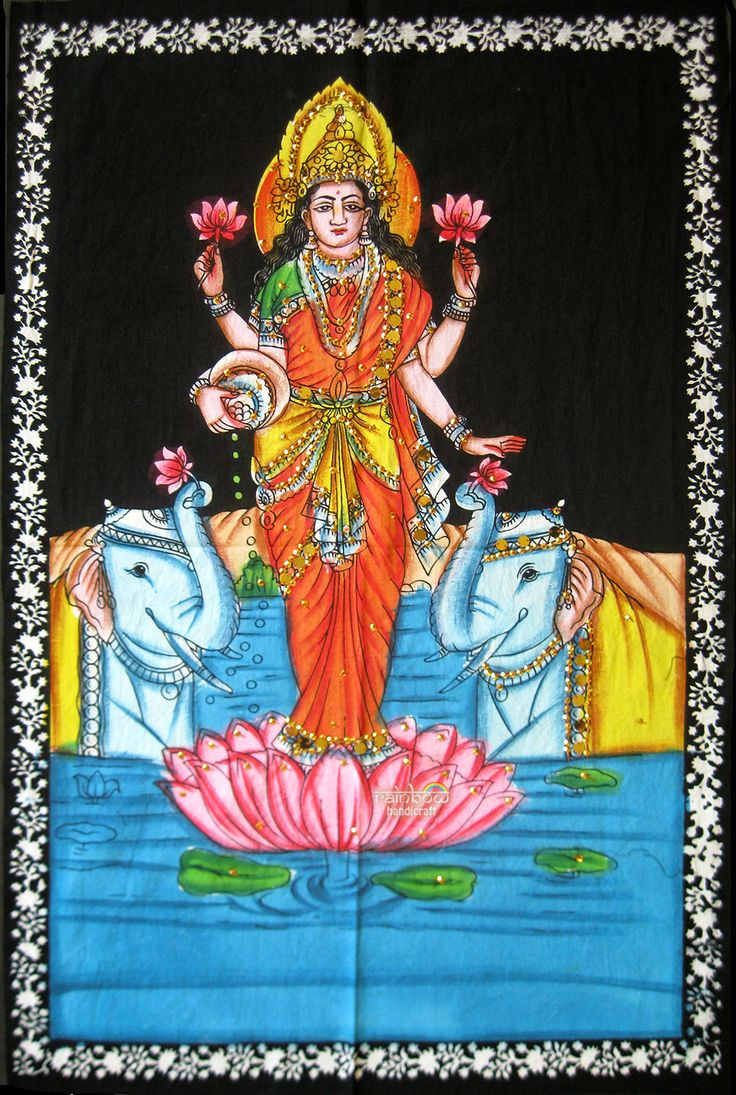 181 best indian textile handicrafts images on pinterest indian standing goddess of prosperity laxmi lakshmi wall hanging cotton handpainting sequin tapestry indian ethnic art religious