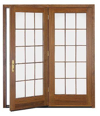 Traditional French Door. Pella DoorsFrench DoorsStained GlassPatio ...
