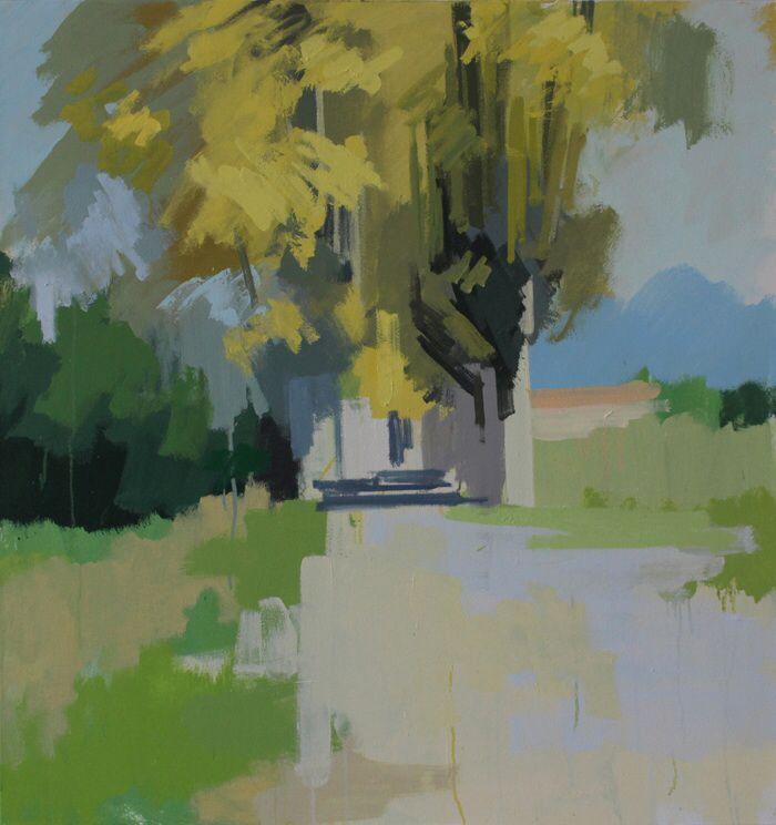 Plane trees, Pompignan. No.1. 34 x 32 ins. Philip Richardson