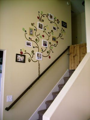 the family tree on a wall