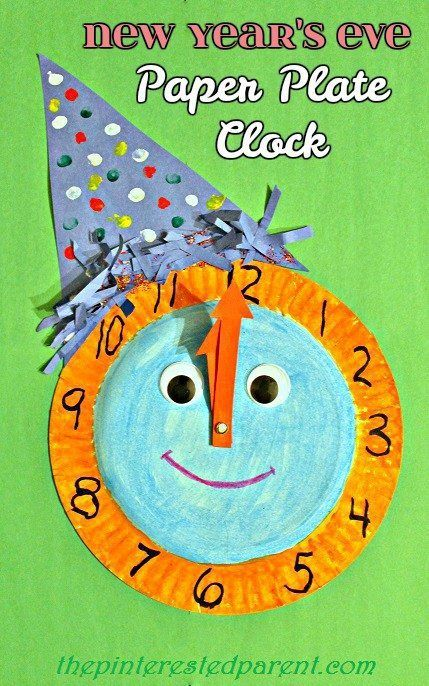 New Year's Eve Paper Plate Celebration Clock | Kids new ...
