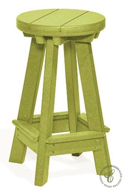 Handmade by skilled Amish craftsmen, our poly material Canova Beach Outdoor Bar Stools are the perfect additions to your patio bar or pub table.