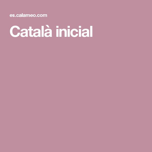 Català inicial