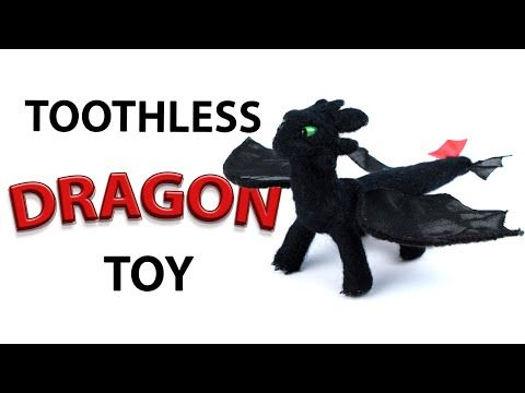 """How to make DIY Toothless dragon toy. In this tutorial you'll learn how to make lovely wool dragon toy from the film """"How to train your dragon"""". #diydragon #dragontoy #howtotrainyourdragon"""