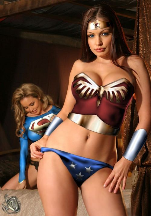 With you Sexy supergirl body paint something