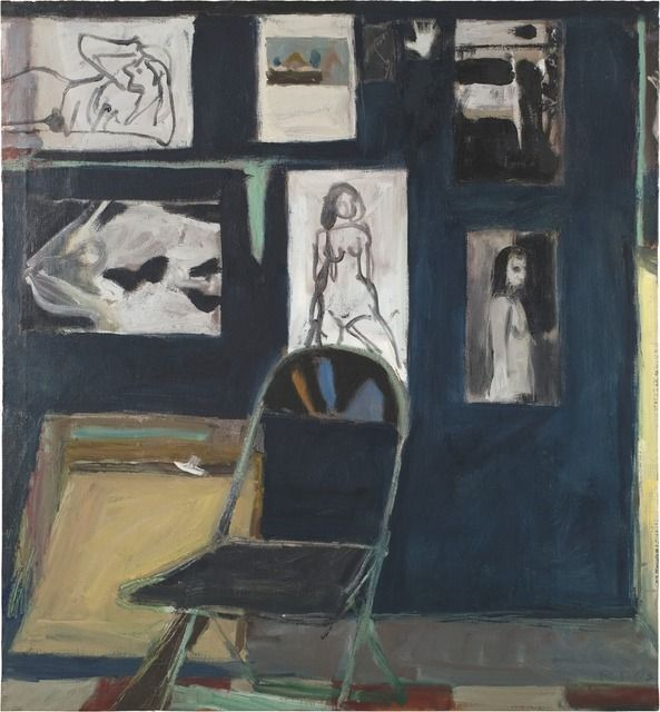 Richard Diebenkorn, Studio Wall (1963), Oil on canvas  45 2/5 × 42 1/2 in