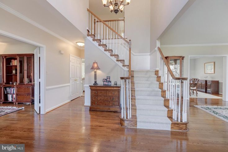 Best Open Foyer Partial Carpeted Stairs Interior Design 640 x 480