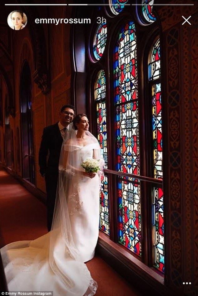 Newlyweds: Following their ceremony at the Central Synagogue, the couple held their recept...