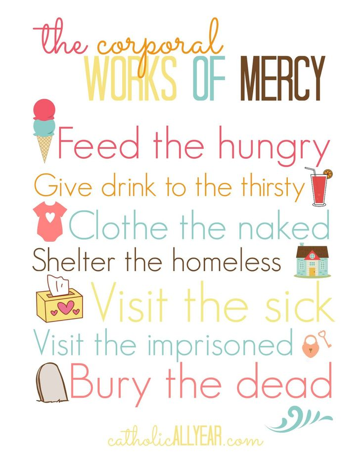 Catholic All Year: The Corporal Works of Mercy