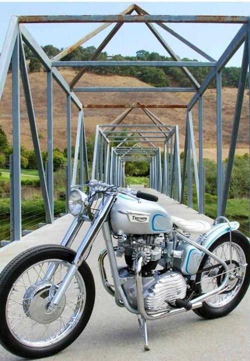 Triumph bobber motorcycle
