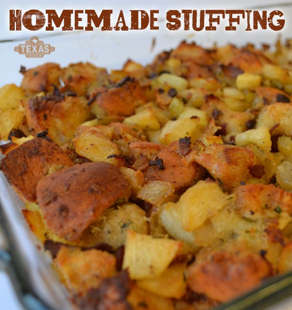 Homemade stuffing recipe! Perfect for Thanksgiving but delicious for all occasions.