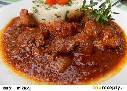 Vepřové kostky na švestkách recept - TopRecepty.cz
