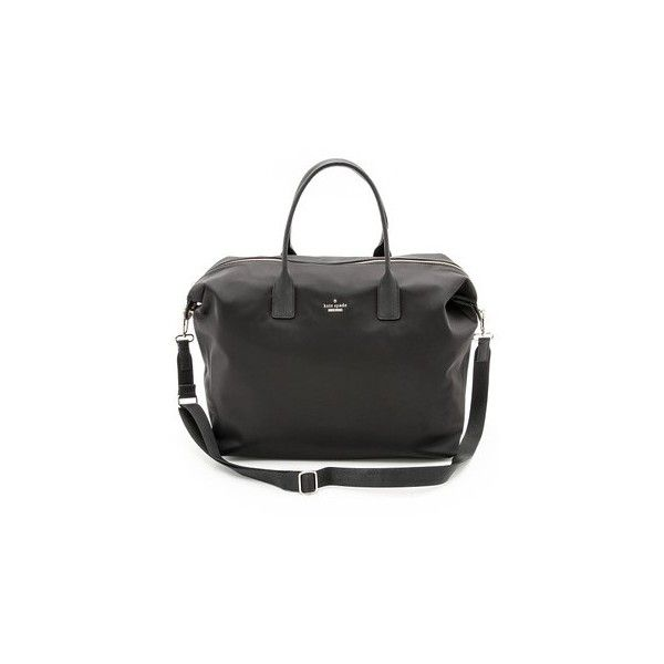 Kate Spade New York Classic Nylon Lyla Tote (162.025 CRC) ❤ liked on Polyvore featuring bags, handbags, tote bags, black, nylon tote bag, handbags totes, kate spade purses, nylon purse and zip top tote bag
