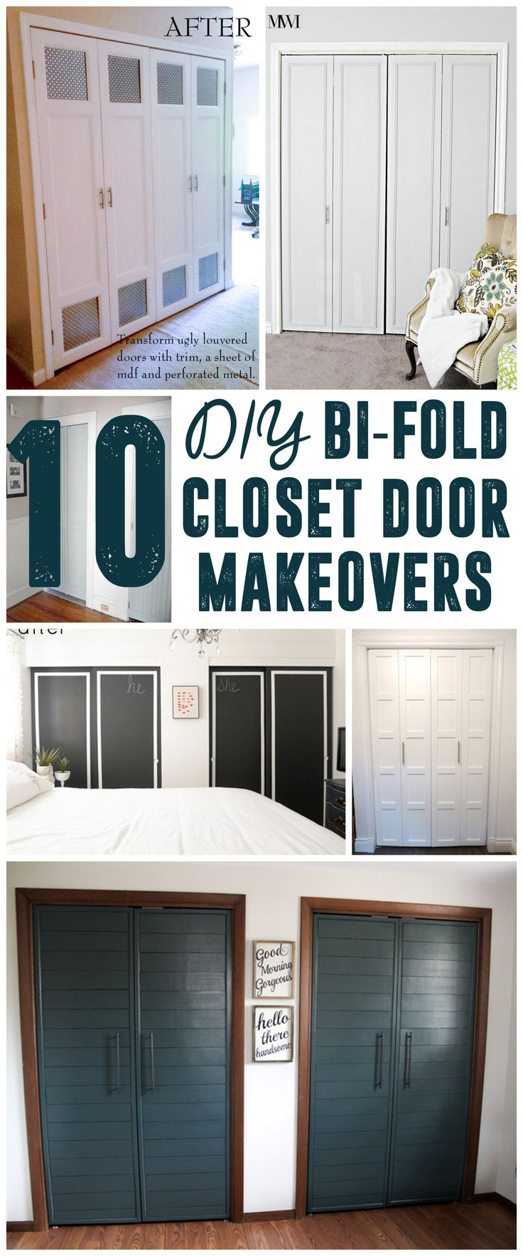 Bi Fold Door Makeover Closet Makeovers