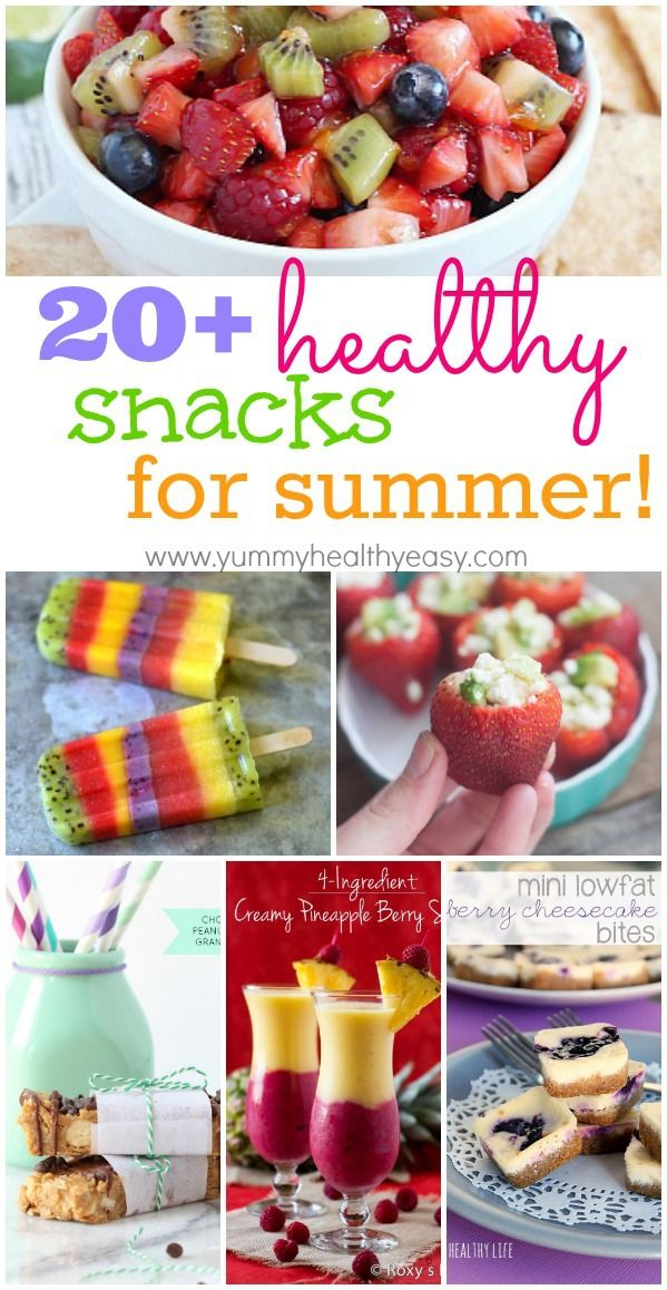 20  Healthy Snacks for Summer! A great collection of guiltless treats you can enjoy all summer long!