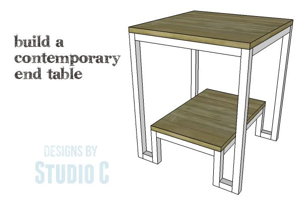 Build this contemporary end table using plywood and square dowels. An easy project perfect for those new to woodworking! Get the FREE plans at buildsomething.com