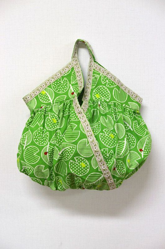 "Gathered ""Cashe coeur"" Bag - PDF Pattern and Tutorial."
