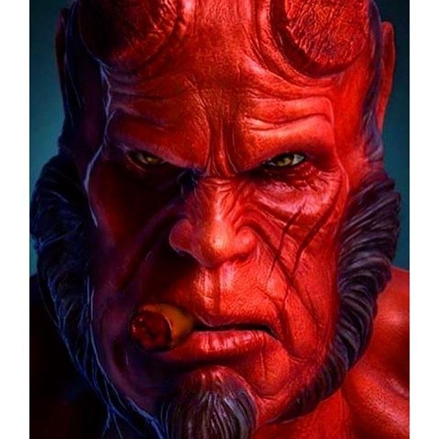 Hellboy!  Pic via @caspiancomics  #darkhorsecomics #hellboy #marvel #marvelcomics #comics #conceptart