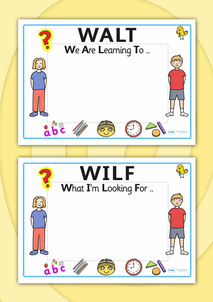 Twinkl Resources >> Editable WILF-WALT-Display Signs >> Printable resources for Primary, EYFS, KS1 and SEN. Thousands of classroom displays and teaching aids! Classroom Signs, Display