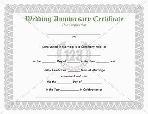 give the best gift for your favorite couple on their wedding anniversary using this wedding anniversary certificate template will be the perfect gift