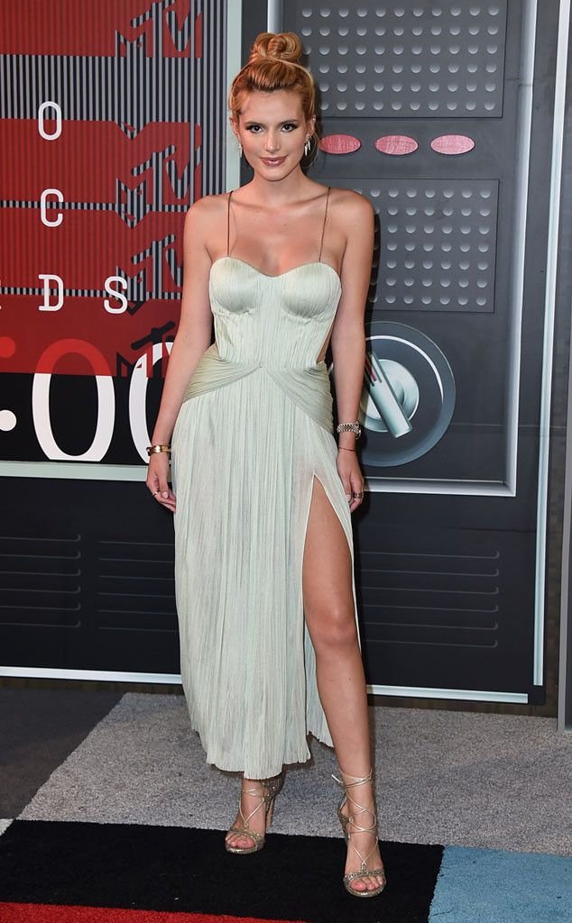 Bella Thorne from 2015 MTV Video Music Awards Red Carpet Arrivals  Oh so glam! Maria Lucia Hohan gets the credit for this elegant draped number.