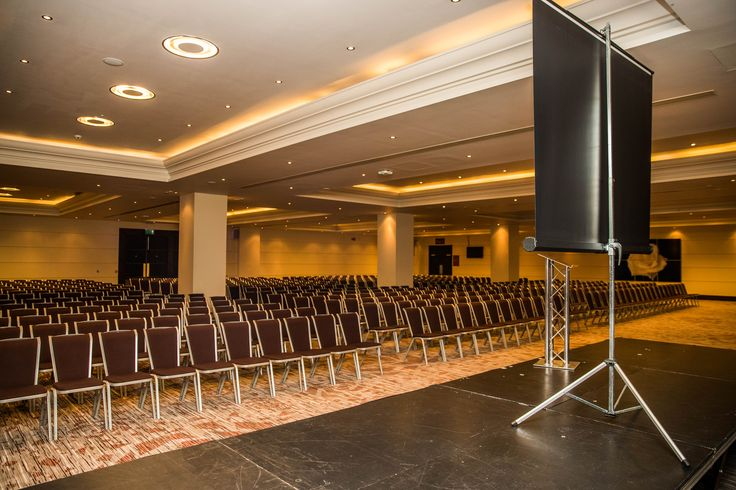 The Rose Suite at Twickenham Stadium set up in theatre style. This room will comfortably seat 1200 in this layout.