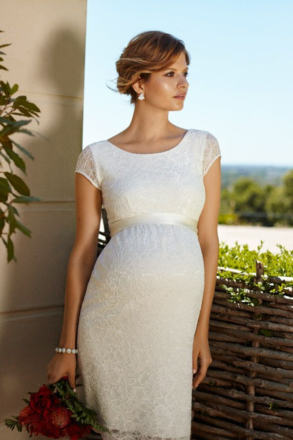 5ef471ab07e Umstandskleid für die Hochzeit mit Babybauch Maternity Wedding