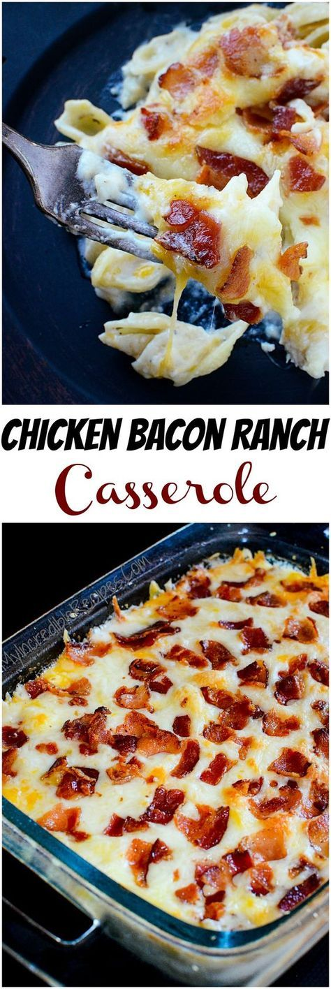 This chicken bacon ranch casserole makes it easy to feed a crowd