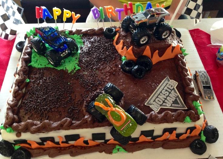 Monster Jam Cake Cakes Pinterest Monster Jam Cakes
