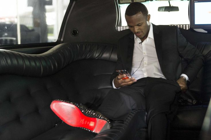 Houston Texans' first-round draft pick Deshaun Watson arrived in Houston on Wednesday morning and was greeted with a limousine waiting to take him to NRG Stadium.