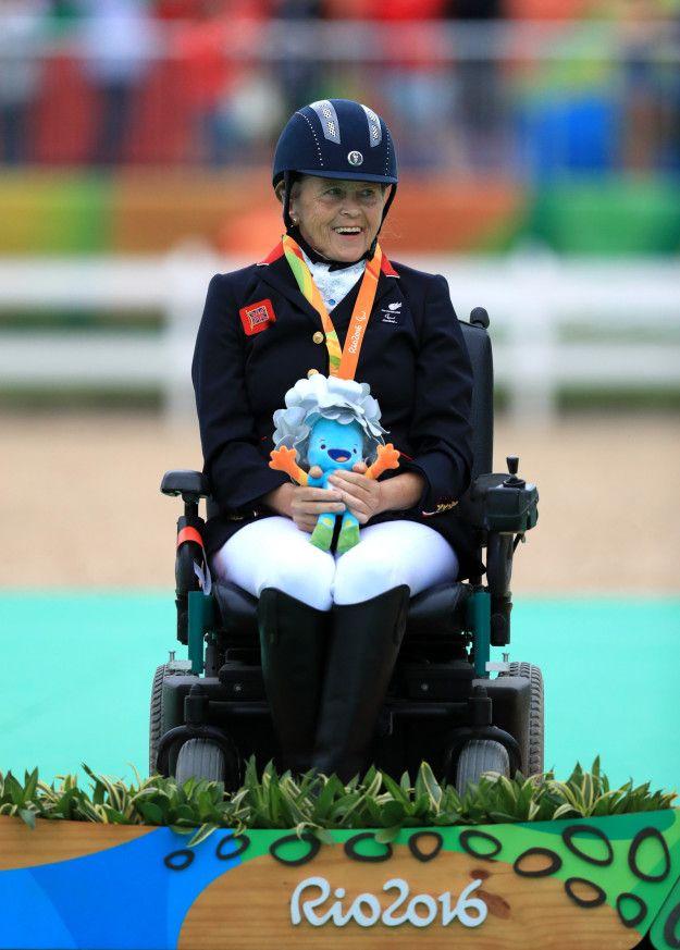 Anne Dunham: Silver in equestrian individual free grade