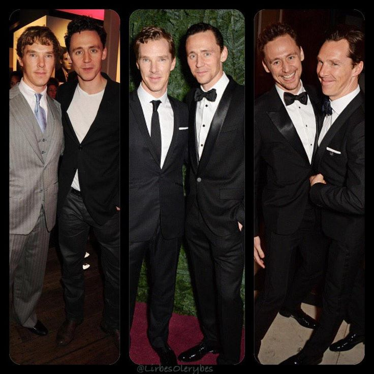 Evolution of perfection! Benedict Cumberbatch and Tom Hiddleston