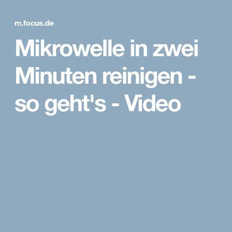 Mikrowelle in zwei Minuten reinigen - so geht's - Video