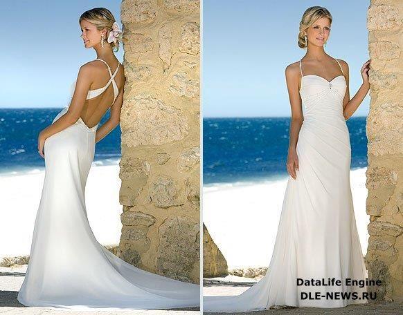 Свадебное платье для свадьбы на пляже