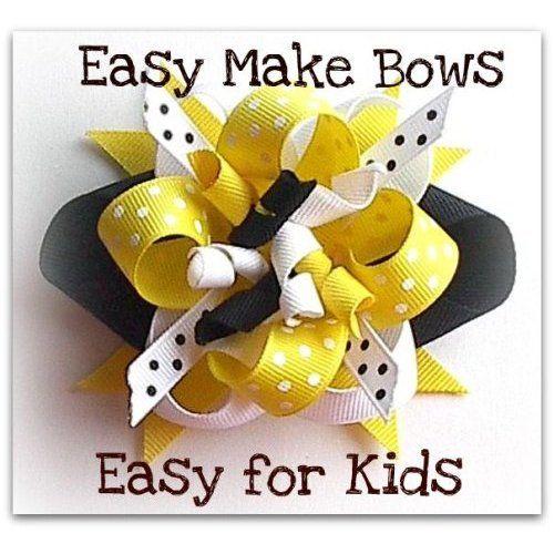 Ez Hair Bow Maker, Bumble Bee,Children Learn How to Make Hair Bows