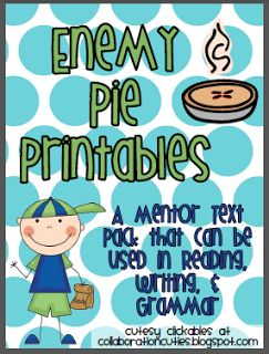 September Swap and Share: Enemy Pie Activities and Printables by Collaboration Cuties