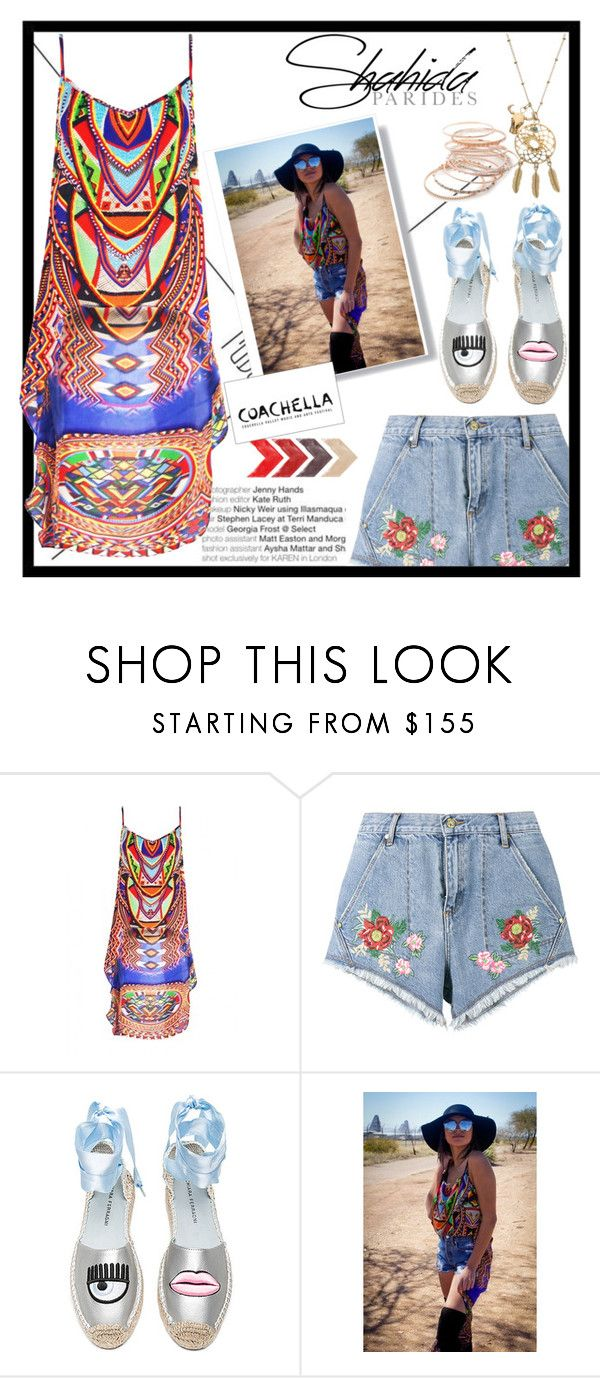 """Shahida Parides Coachella Cami Contest"" by monica-salim ❤ liked on Polyvore featuring House of Holland, Chiara Ferragni and Red Camel"
