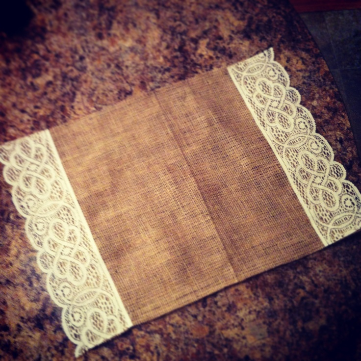 Lace and burlap placemat