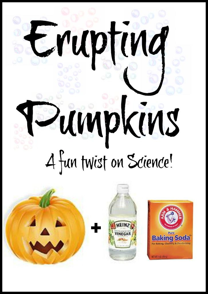 Baking soda + vinegar + a carved pumpkin = erupting pumpkins!! This is such a fun twist on the old baking soda and vinegar trick and great for Fall!