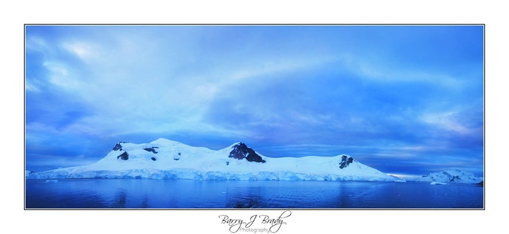 Blue in Antarctica, like no other blue on earth!